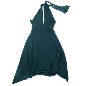 American Apparel hunter green convertible dress S